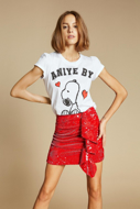 Immagine di T-Shirt -Aniye By - Rouches Snoopy