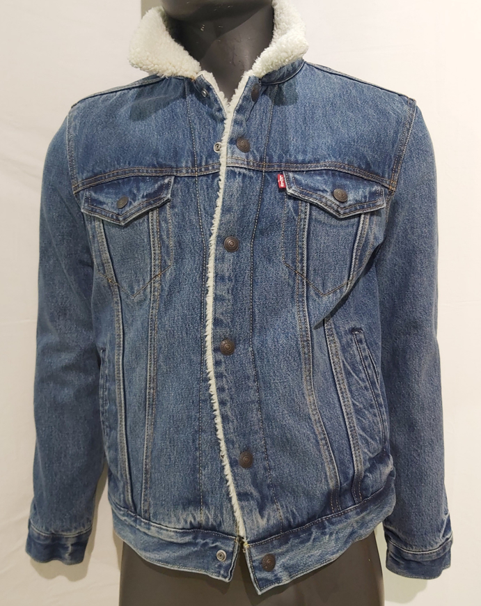Picture of LEVI'S 16365-0040 - sherpa giacchetto  jeans - SOLO S