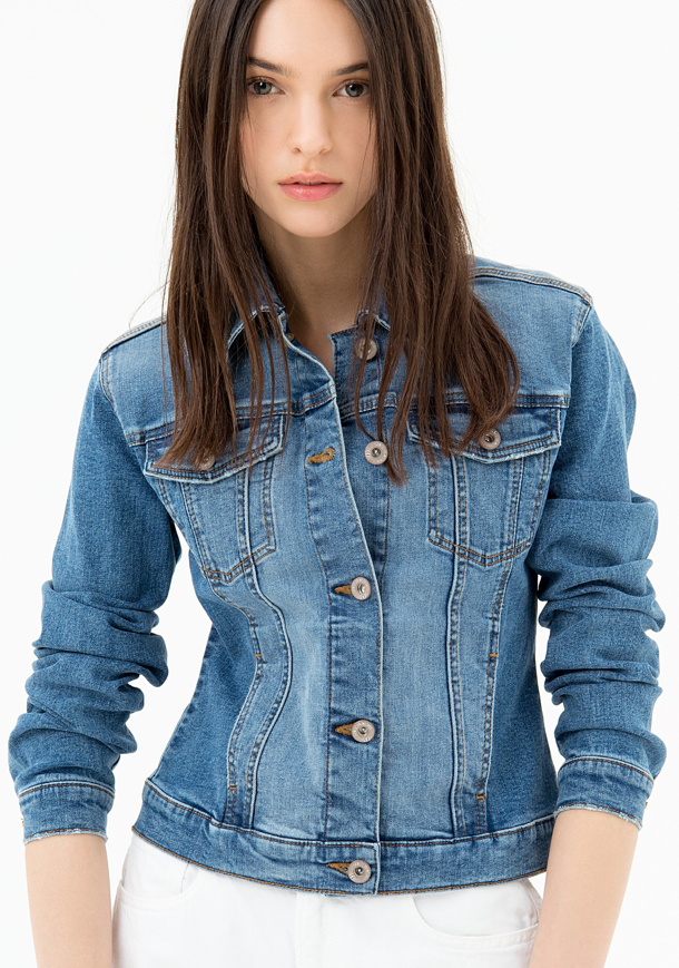 Picture of Giacchetto in denim - Fracomina