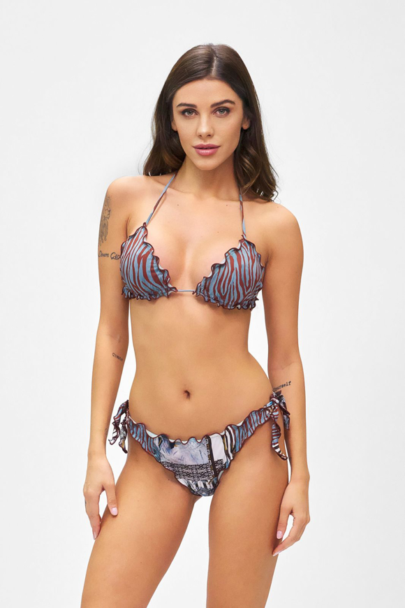 Picture of Bikini Triangolo e slip nodi brasiliano regolabile Frou Frou Roam. 1542U