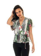 Picture of Top Nerea Stampa Floreale- Guess W1GH98WDW52
